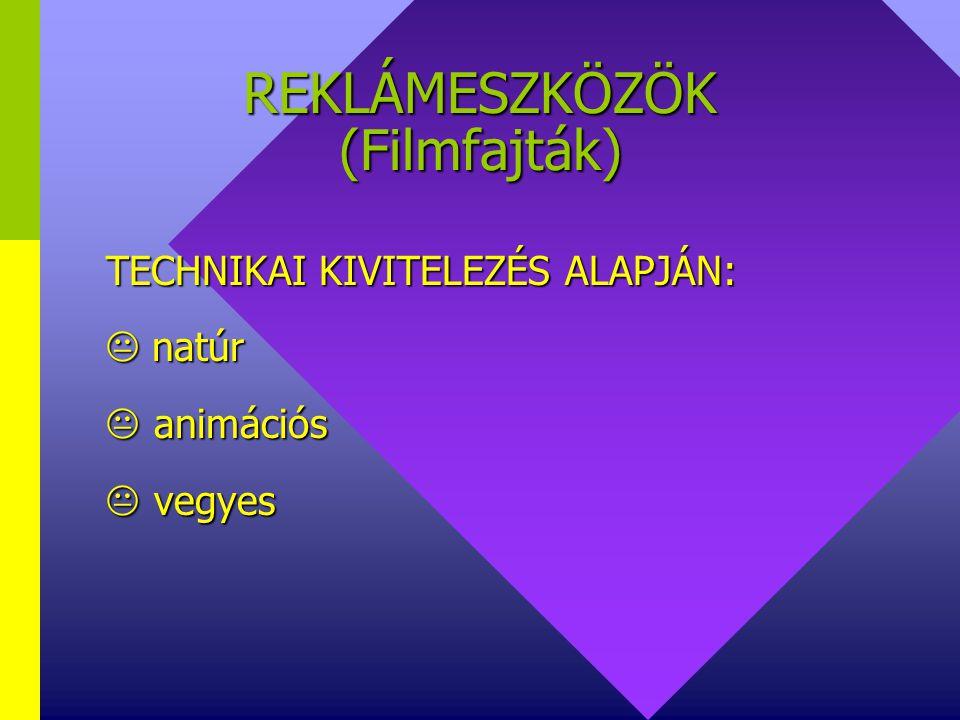 REKLÁMESZKÖZÖK (Filmfajták)