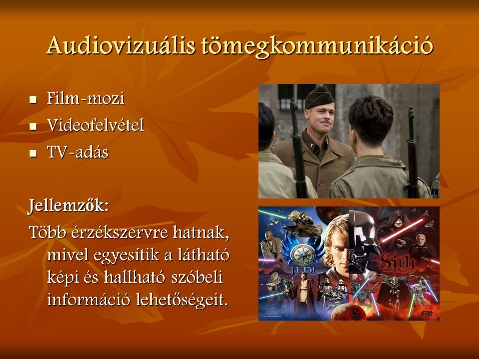 Audiovizuális tömegkommunikáció