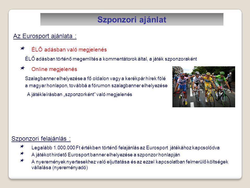Szponzori ajánlat Az Eurosport ajánlata : Szponzori felajánlás :