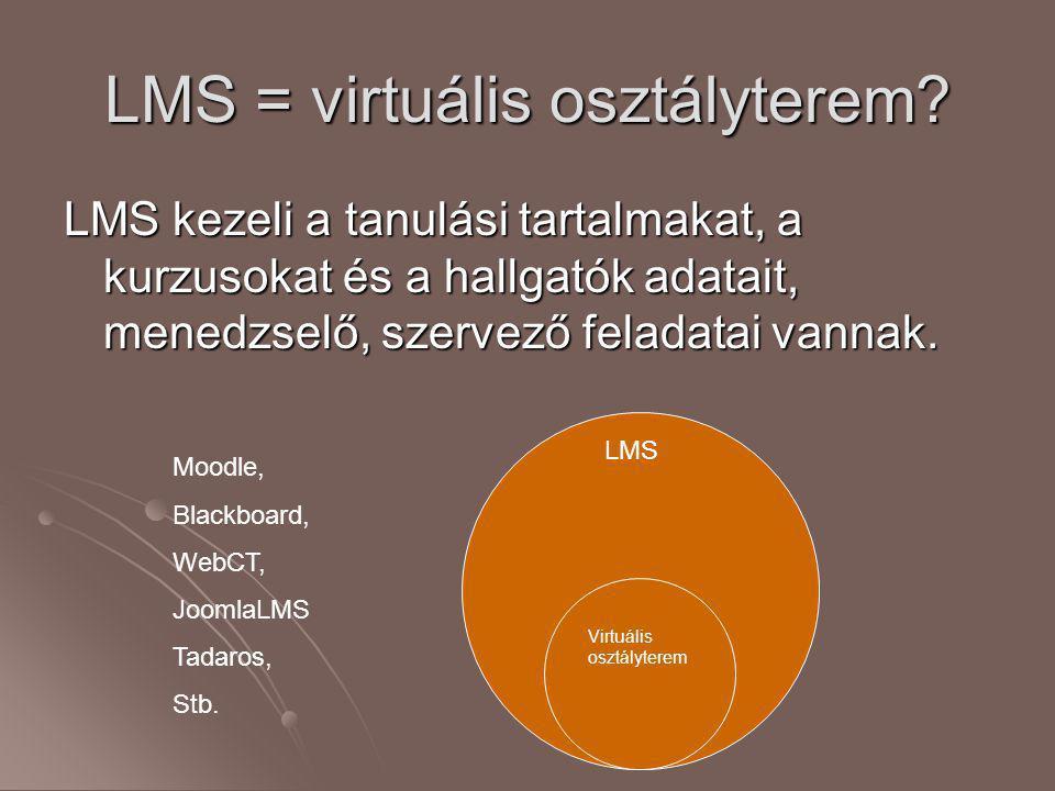 LMS = virtuális osztályterem