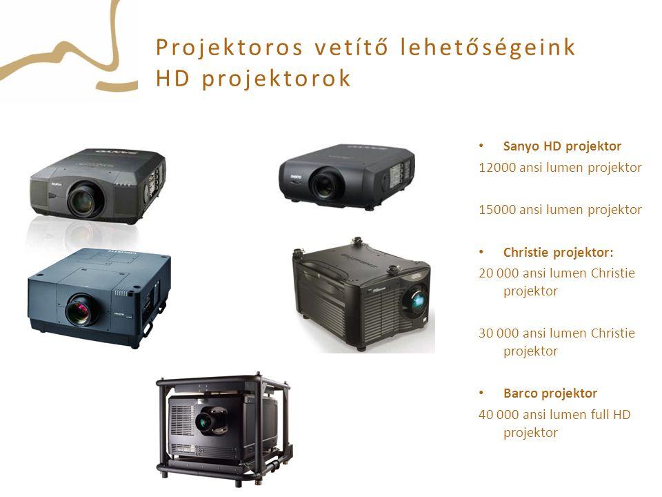 Projektoros vetítő lehetőségeink HD projektorok