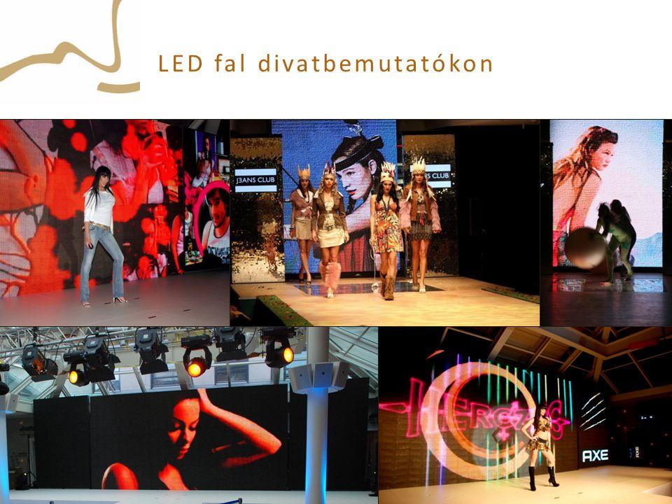 LED fal divatbemutatókon
