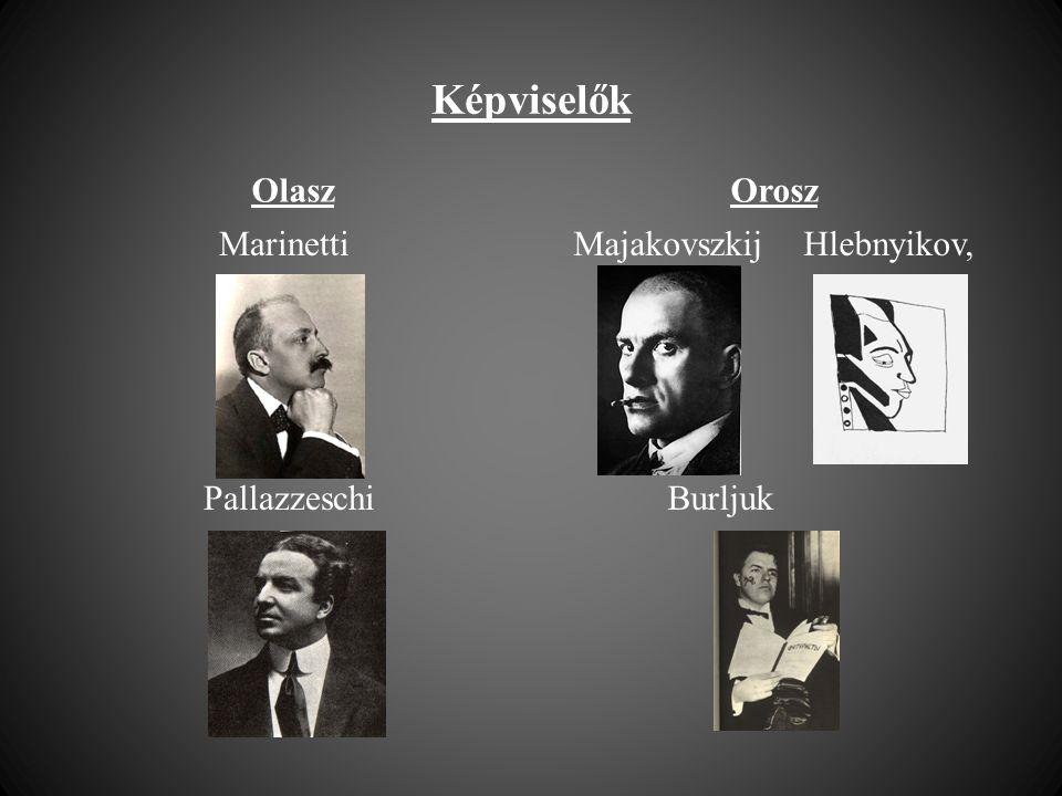 Képviselők Olasz Orosz Marinetti Pallazzeschi