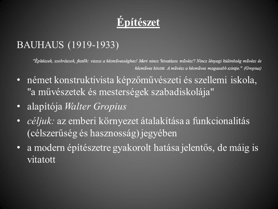 Építészet BAUHAUS (1919-1933)