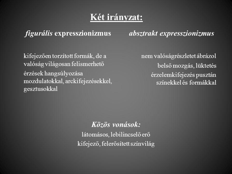Két irányzat: figurális expresszionizmus