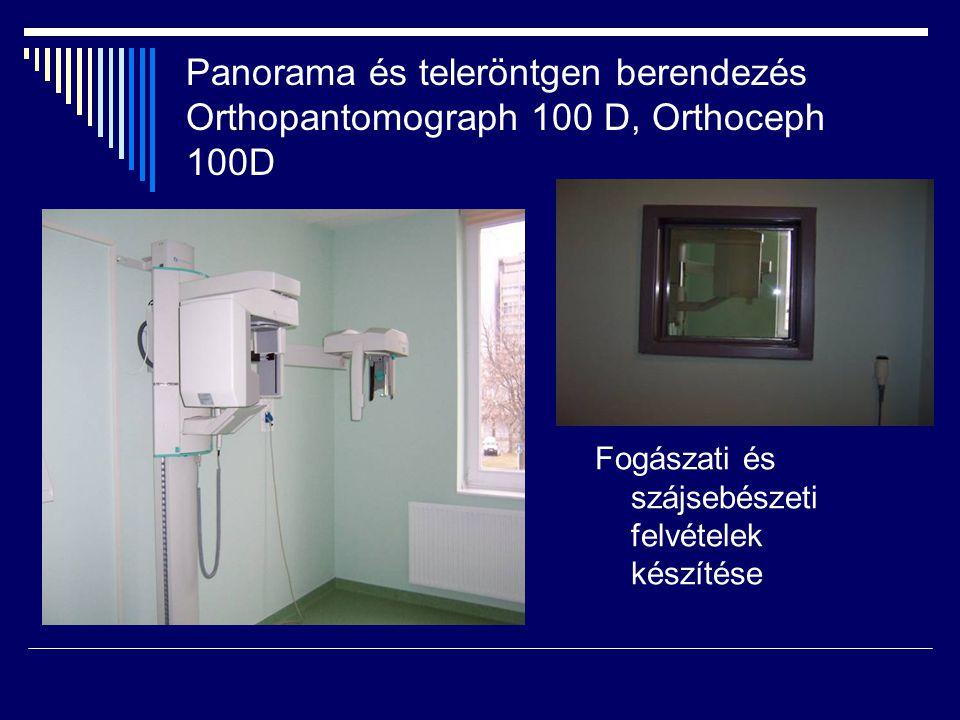 Panorama és teleröntgen berendezés Orthopantomograph 100 D, Orthoceph 100D