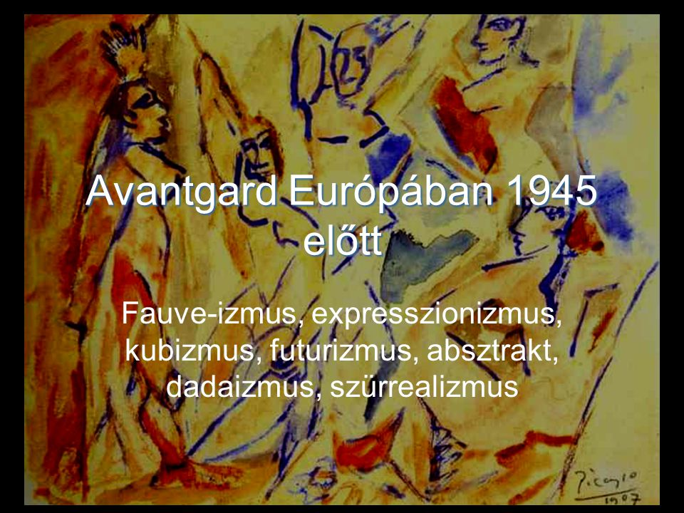 Avantgard Európában 1945 előtt