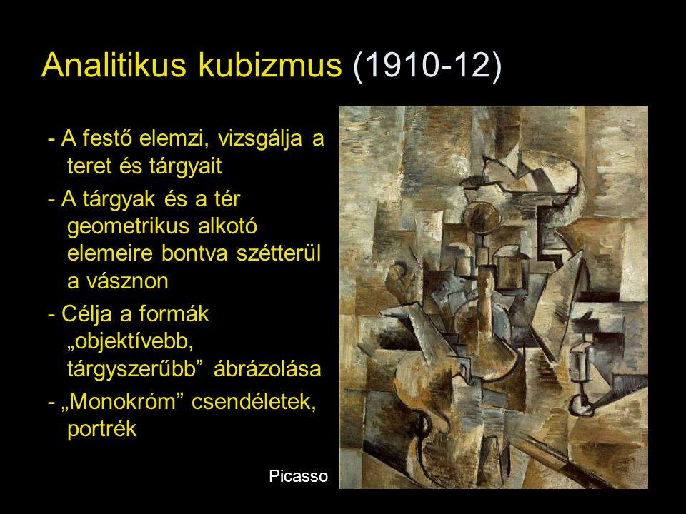 Analitikus kubizmus (1910-12)