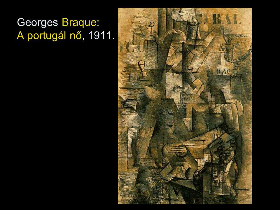 Georges Braque: A portugál nő, 1911.