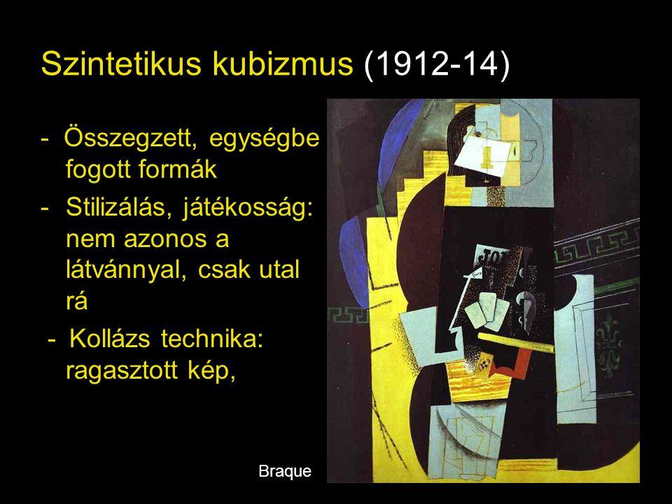 Szintetikus kubizmus (1912-14)