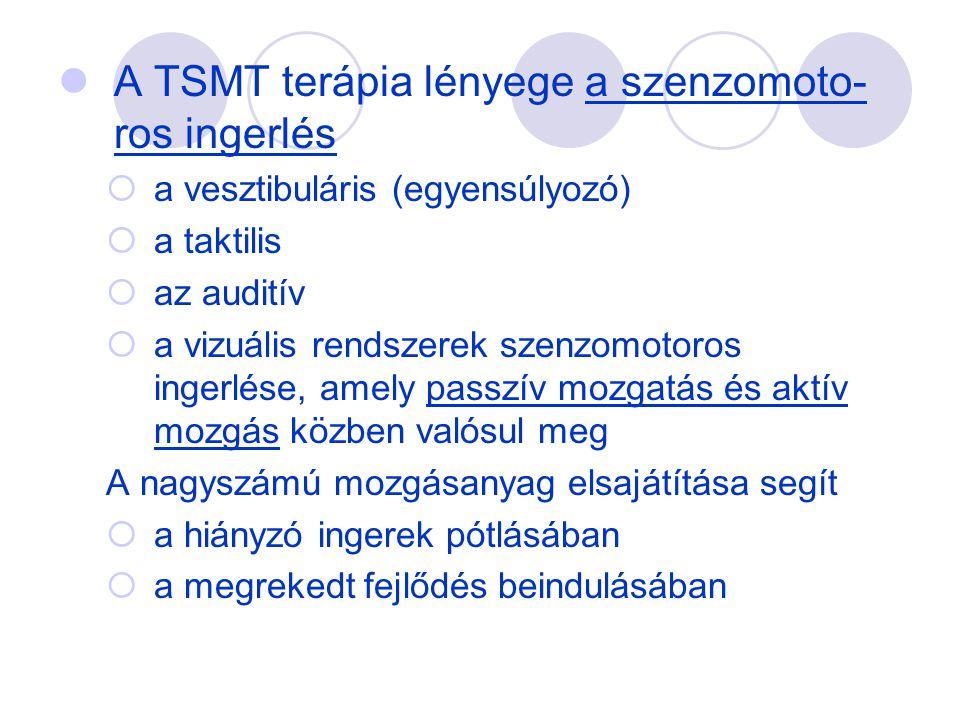 A TSMT terápia lényege a szenzomoto-ros ingerlés