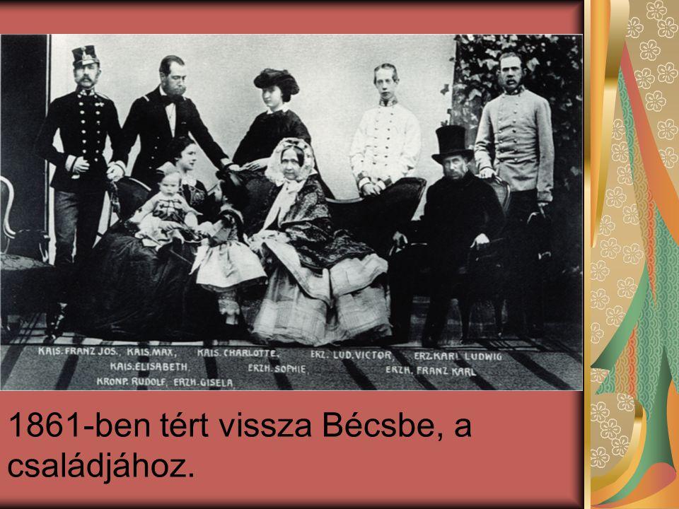 1861-ben tért vissza Bécsbe, a családjához.