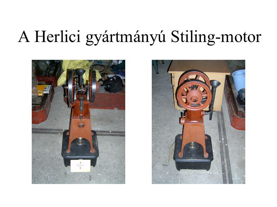 A Herlici gyártmányú Stiling-motor