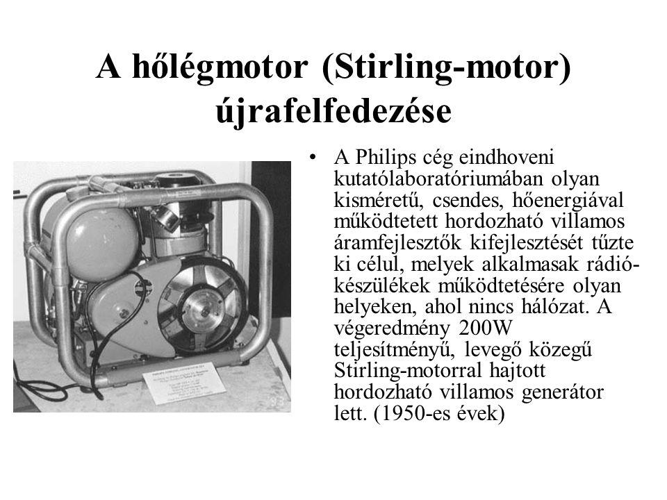 A hőlégmotor (Stirling-motor) újrafelfedezése