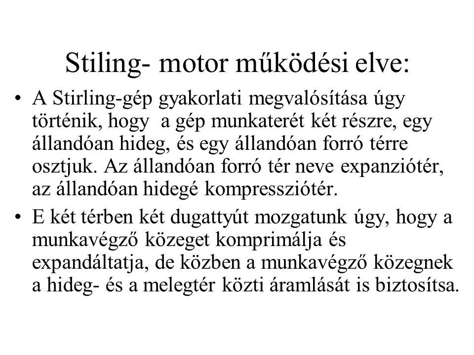 Stiling- motor működési elve: