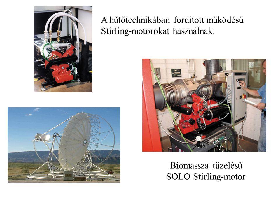 A hűtőtechnikában fordított működésű Stirling-motorokat használnak.