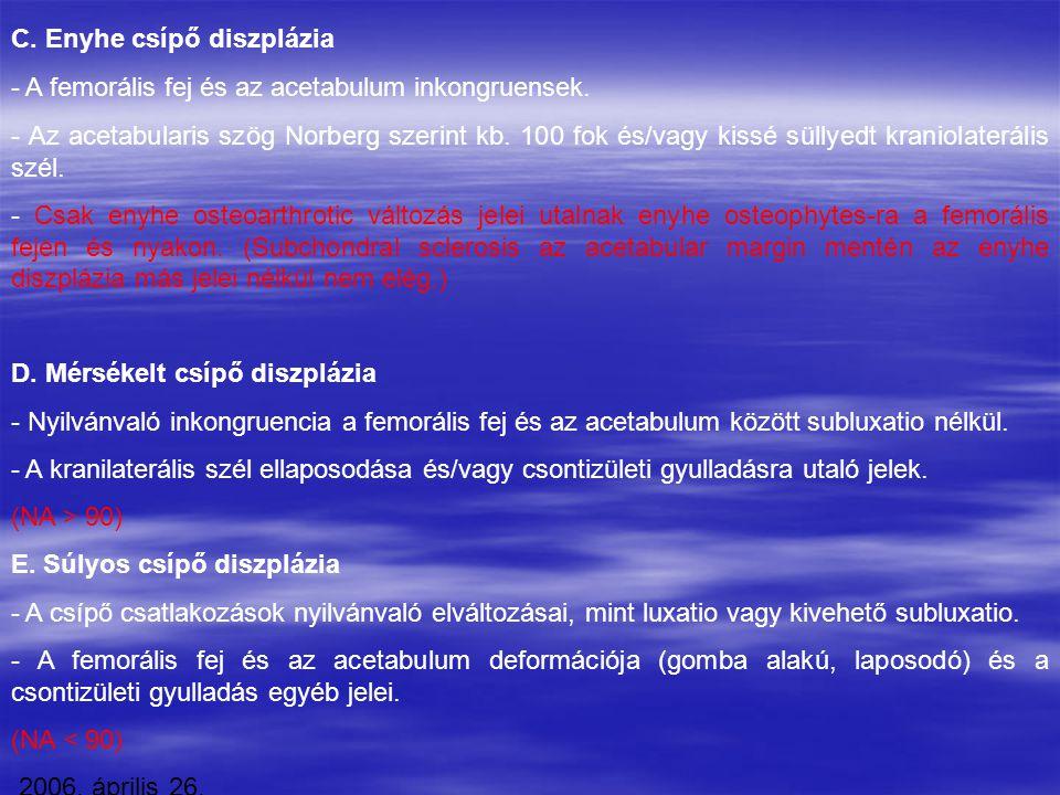 C. Enyhe csípő diszplázia