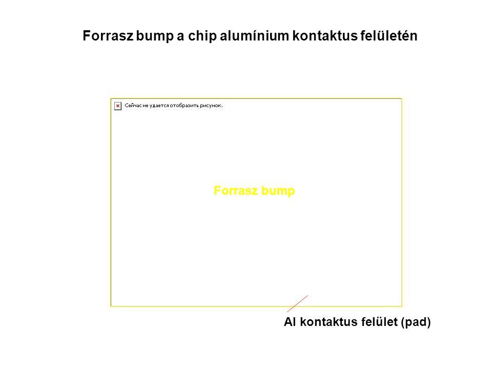 Forrasz bump a chip alumínium kontaktus felületén