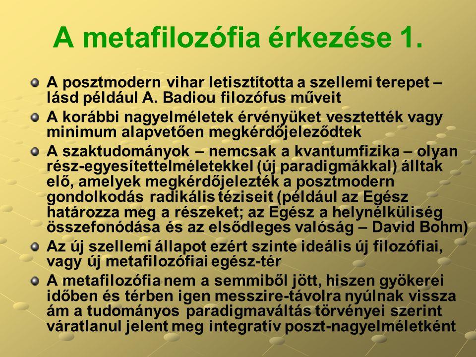 A metafilozófia érkezése 1.