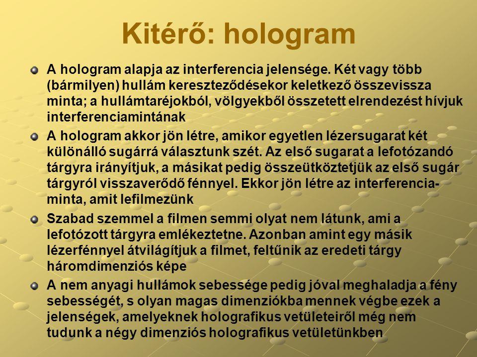 Kitérő: hologram