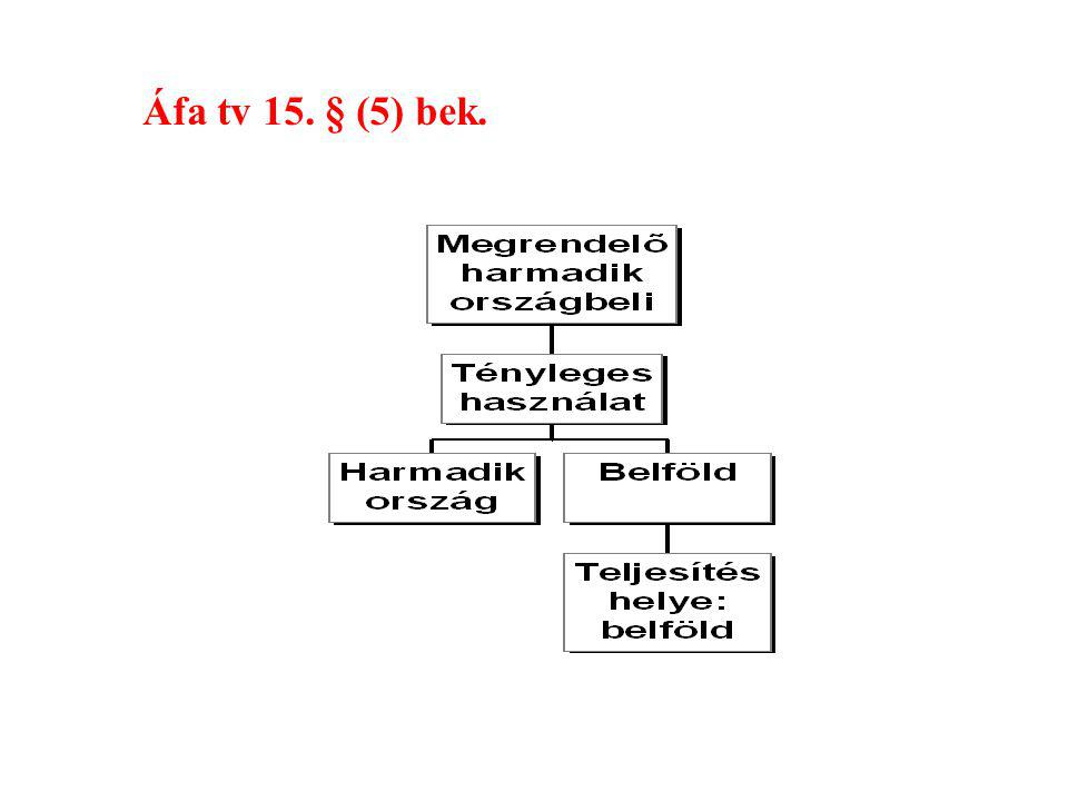 Áfa tv 15. § (5) bek.