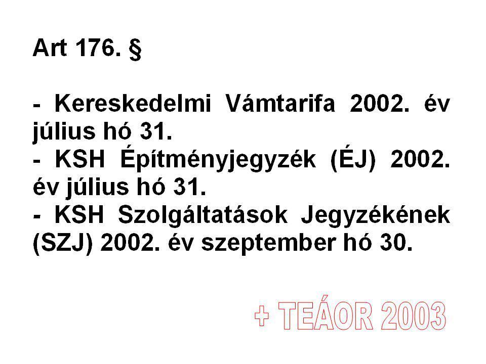 + TEÁOR 2003