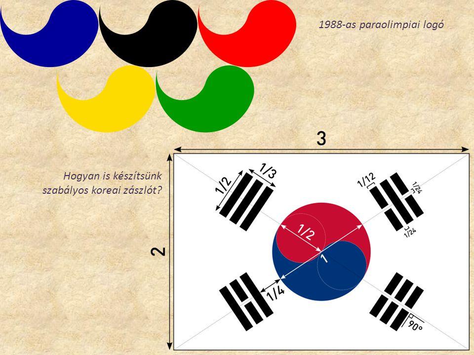 1988-as paraolimpiai logó Hogyan is készítsünk szabályos koreai zászlót