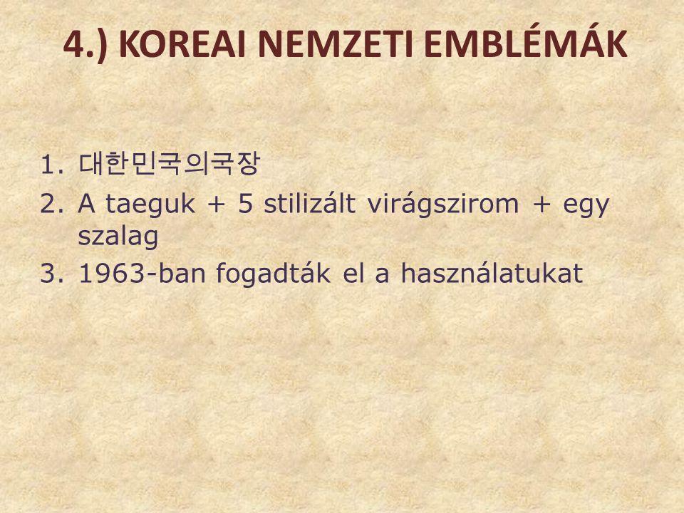 4.) Koreai nemzeti emblémák