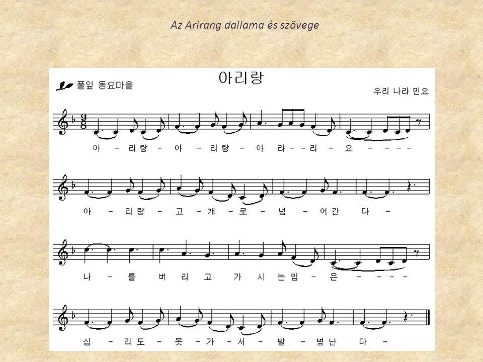 Az Arirang dallama és szövege
