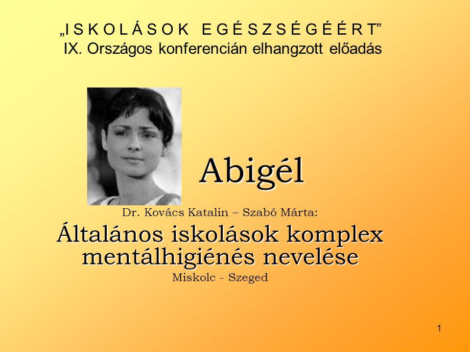 Abigél Általános iskolások komplex mentálhigiénés nevelése