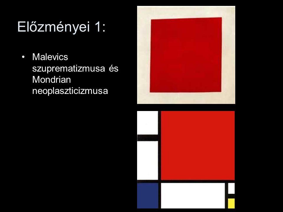 Előzményei 1: Malevics szuprematizmusa és Mondrian neoplaszticizmusa