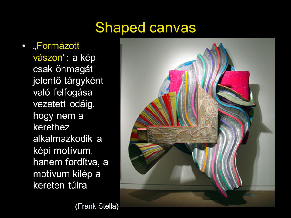 Shaped canvas