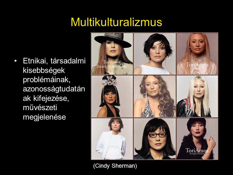 Multikulturalizmus Etnikai, társadalmi kisebbségek problémáinak, azonosságtudatának kifejezése, művészeti megjelenése.