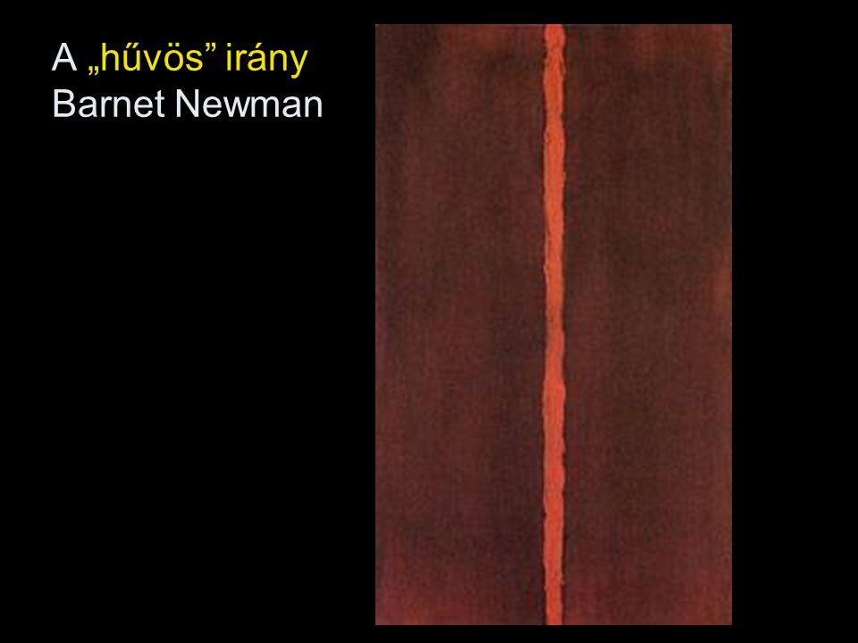 """A """"hűvös irány Barnet Newman"""