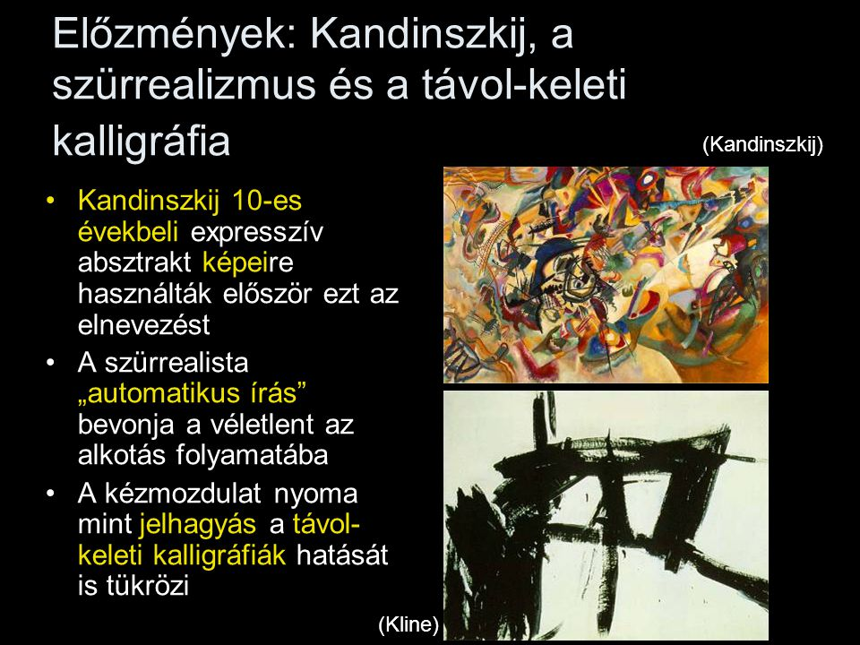 Előzmények: Kandinszkij, a szürrealizmus és a távol-keleti kalligráfia