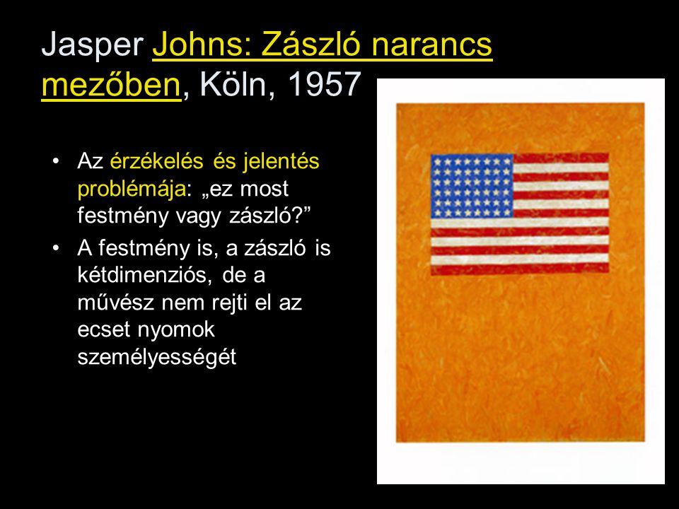 Jasper Johns: Zászló narancs mezőben, Köln, 1957