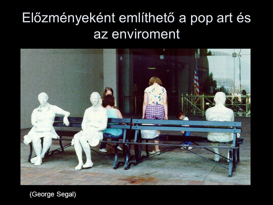 Előzményeként említhető a pop art és az enviroment