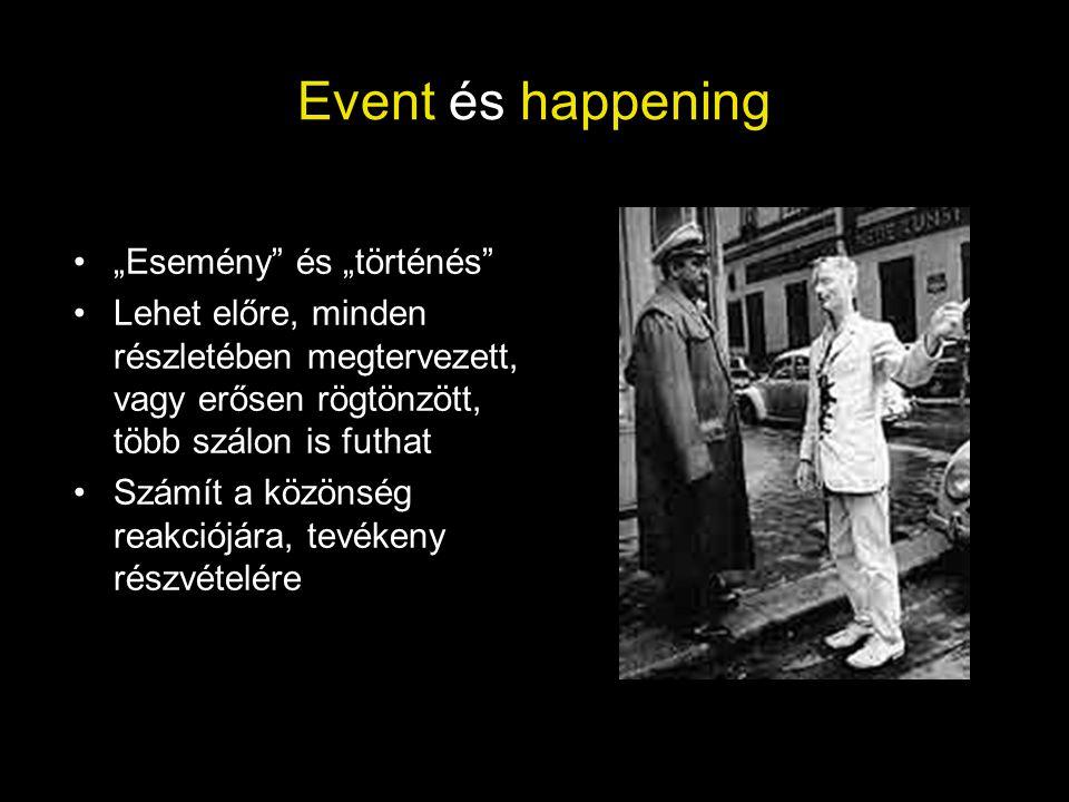 """Event és happening """"Esemény és """"történés"""