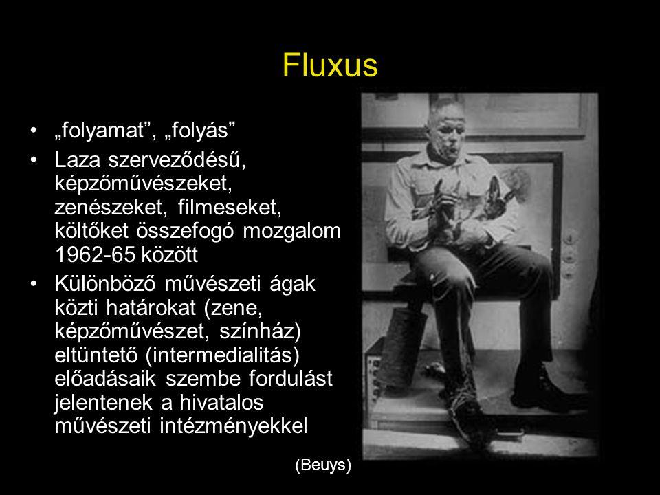 """Fluxus """"folyamat , """"folyás"""