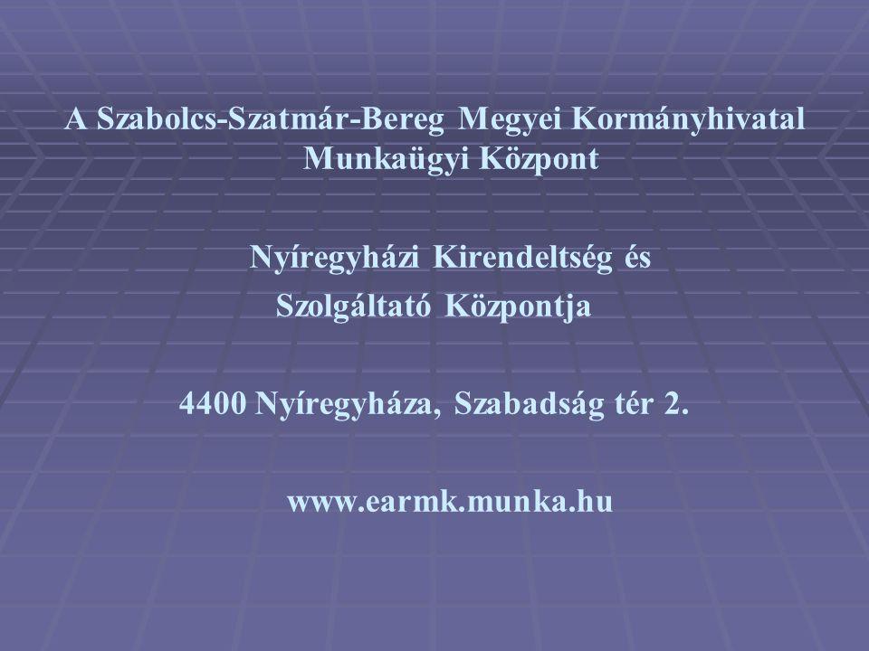 A Szabolcs-Szatmár-Bereg Megyei Kormányhivatal Munkaügyi Központ