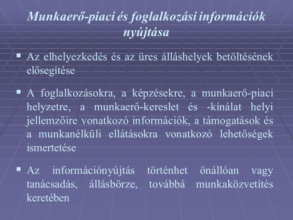 Munkaerő-piaci és foglalkozási információk nyújtása