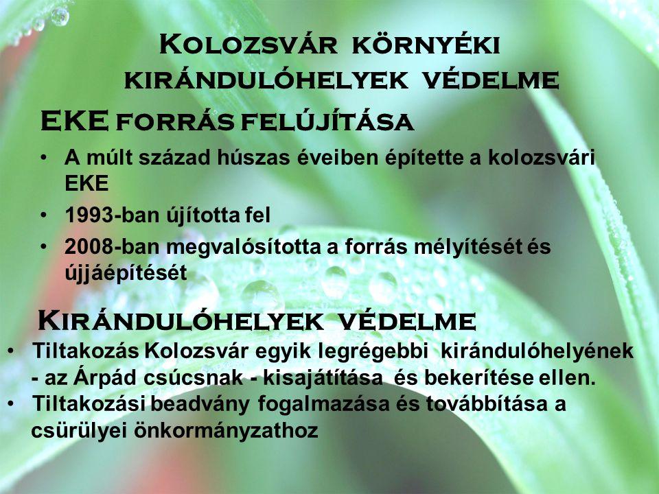 Kolozsvár környéki kirándulóhelyek védelme