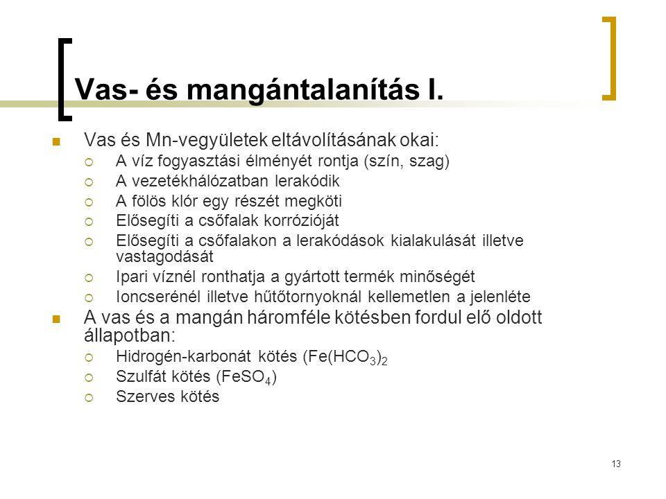 Vas- és mangántalanítás I.