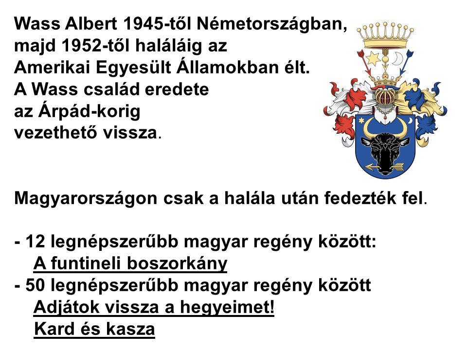 Wass Albert 1945-től Németországban,