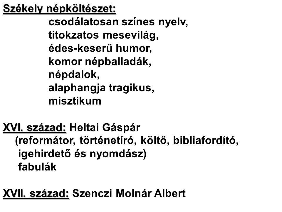Székely népköltészet: