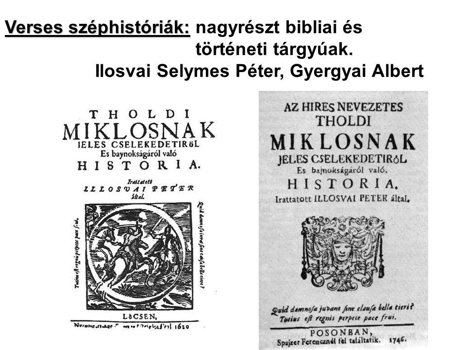 Verses széphistóriák: nagyrészt bibliai és