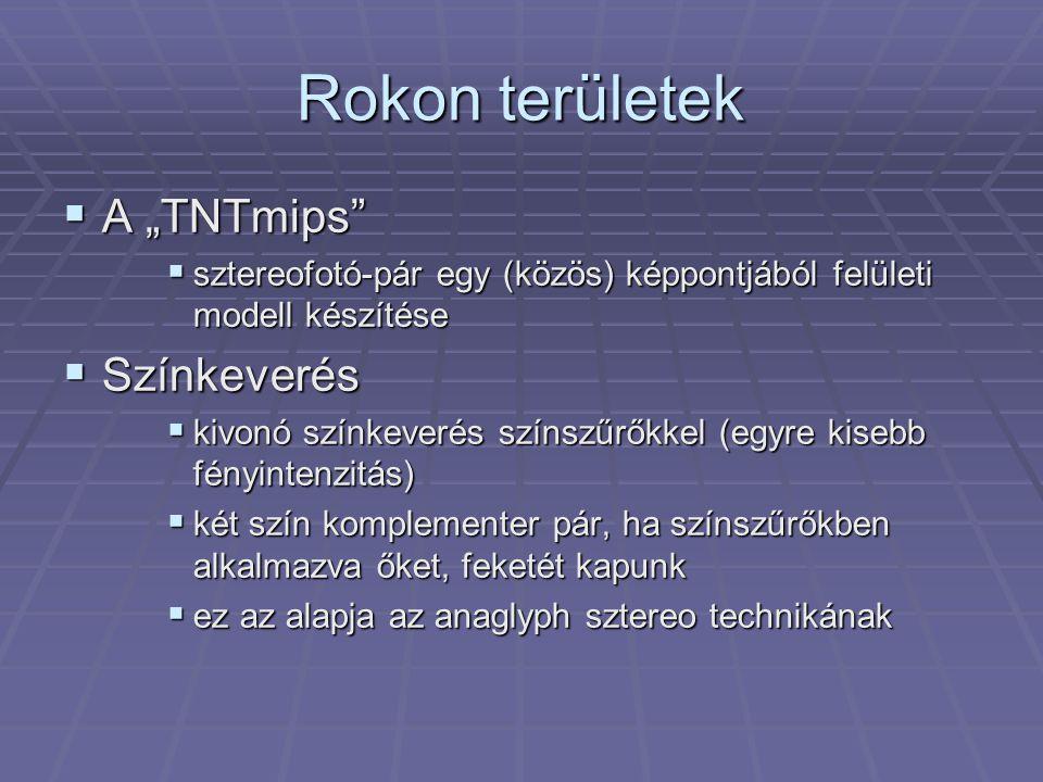 """Rokon területek A """"TNTmips Színkeverés"""