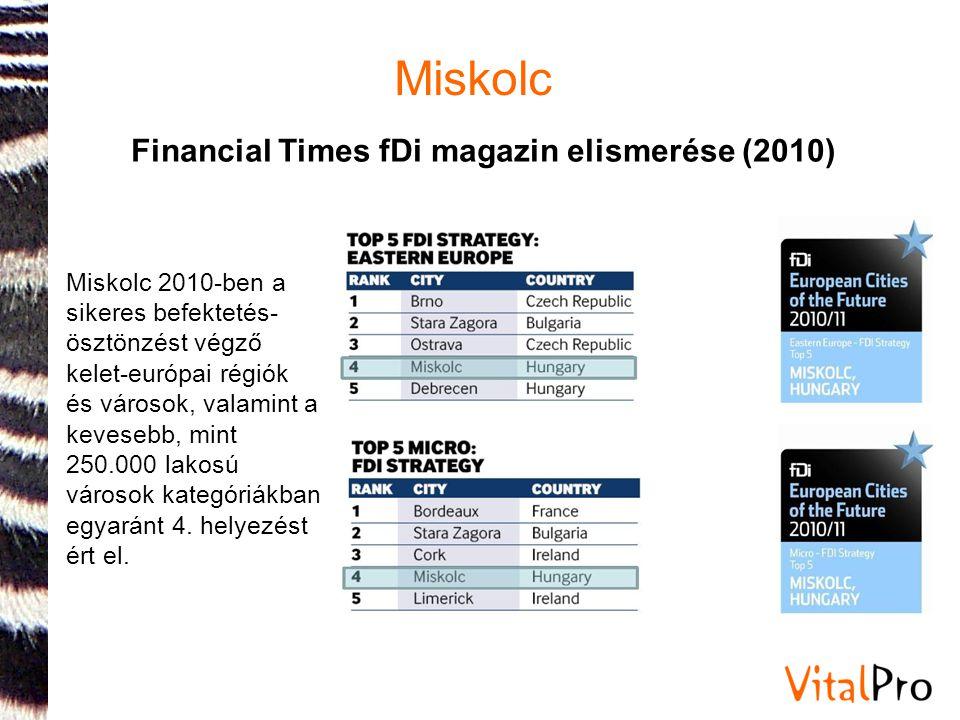 Financial Times fDi magazin elismerése (2010)