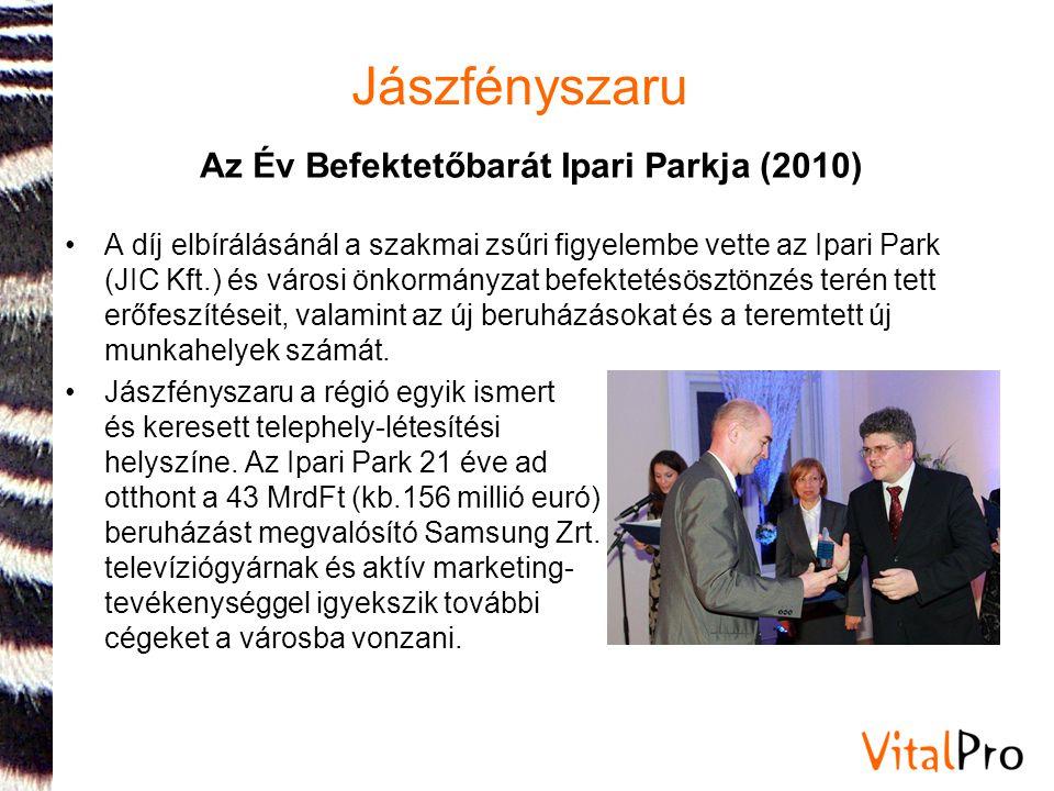 Az Év Befektetőbarát Ipari Parkja (2010)
