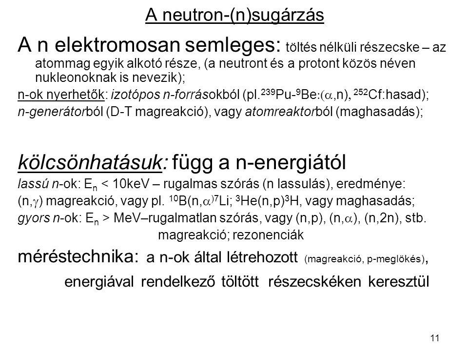 A neutron-(n)sugárzás